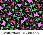 hipster geometric triangle... | Shutterstock . vector #1191066772