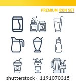 simple set of  9 outline icons... | Shutterstock . vector #1191070315