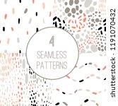 confetti seamless pattern set.... | Shutterstock .eps vector #1191070432