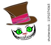 Cheshire Cat With Hat  Color...