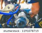 the mechanic hand go kart...   Shutterstock . vector #1191078715