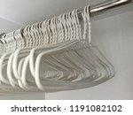 white hanger in the cabinet | Shutterstock . vector #1191082102