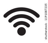 wireless and wifi icon or wi fi ... | Shutterstock .eps vector #1191087235