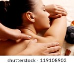 masseur doing massage on woman... | Shutterstock . vector #119108902
