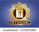 shiny emblem with restaurant... | Shutterstock .eps vector #1191091888