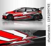 racing car wrap. wrap design... | Shutterstock .eps vector #1191099745