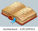 isometric book of magic spells...