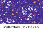 colorful stars seamless... | Shutterstock .eps vector #1191117172