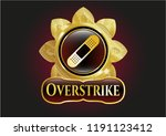 gold badge with bandage... | Shutterstock .eps vector #1191123412