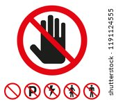 the sign of the stop icon on... | Shutterstock .eps vector #1191124555