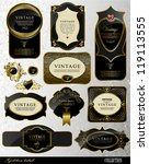 retro black gold label can be...   Shutterstock .eps vector #119113555