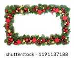 decorative christmas background ... | Shutterstock . vector #1191137188