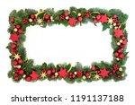 decorative christmas background ... | Shutterstock . vector #1191137188