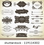 calligraphic design elements ... | Shutterstock .eps vector #119114302