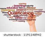 qualification word cloud and... | Shutterstock . vector #1191148942