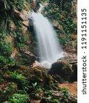 waterfall mountain view  | Shutterstock . vector #1191151135
