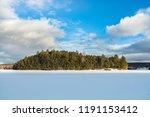 mid afternoon  winter sun ... | Shutterstock . vector #1191153412