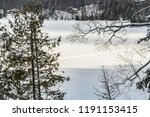 beautiful winter scene ... | Shutterstock . vector #1191153415