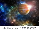 "jupiter planet in the colorful starry universe ""Elements of this image furnished by NASA"""