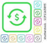 dollar pay back vivid colored... | Shutterstock .eps vector #1191165895