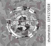 herbivorous on grey camo pattern | Shutterstock .eps vector #1191172018