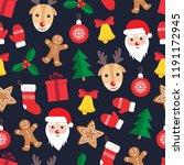 seamless pattern of christmas... | Shutterstock .eps vector #1191172945
