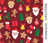 seamless pattern of christmas... | Shutterstock .eps vector #1191172948
