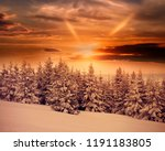 dramatic winter sunrise in... | Shutterstock . vector #1191183805