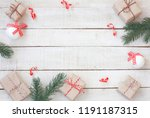 christmas greeting card wrapped ...   Shutterstock . vector #1191187315