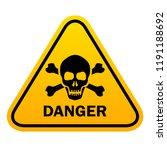 triangle danger vector sign... | Shutterstock .eps vector #1191188692