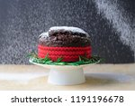Christmas Cake With Falling...
