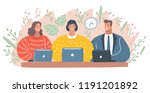 vector cartoon illustration of... | Shutterstock .eps vector #1191201892