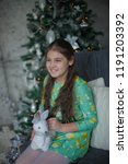 beautiful teenager girl on...   Shutterstock . vector #1191203392