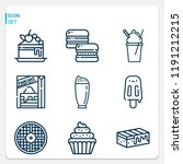 simple set of  9 outline icons... | Shutterstock . vector #1191212215