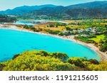chia beach on blue waters of... | Shutterstock . vector #1191215605