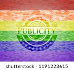 publicity on mosaic background... | Shutterstock .eps vector #1191223615