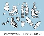 isolated vector set winter... | Shutterstock .eps vector #1191231352