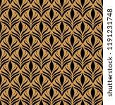 elegant damask floral vector... | Shutterstock .eps vector #1191231748