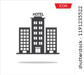 hotel icon vector isolated on...   Shutterstock .eps vector #1191235522