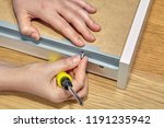 use of furniture fasteners when ... | Shutterstock . vector #1191235942