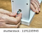 using a flat pack hardware in... | Shutterstock . vector #1191235945