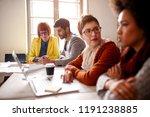 brainstorming designer meeting  ... | Shutterstock . vector #1191238885
