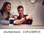 working on design  couple... | Shutterstock . vector #1191238915
