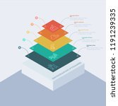 stacked pyramid level stages... | Shutterstock .eps vector #1191239335