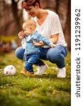 happy childhood energy ... | Shutterstock . vector #1191239962
