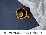 lemon menthol beverage healthy... | Shutterstock . vector #1191248185