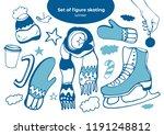 isolated vector set winter... | Shutterstock .eps vector #1191248812