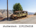 rusty bus at last stop in the... | Shutterstock . vector #1191256318