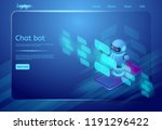 chat bot and communication... | Shutterstock .eps vector #1191296422