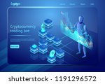 cryptocurrency trading bot.... | Shutterstock .eps vector #1191296572